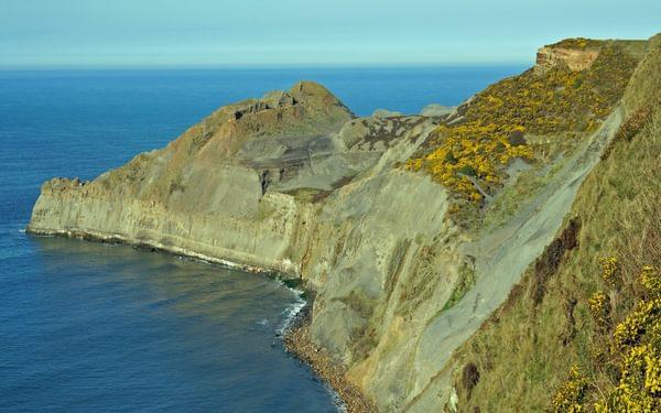 The wonderfully rugged cliff coastline is designated as Heritage Coast