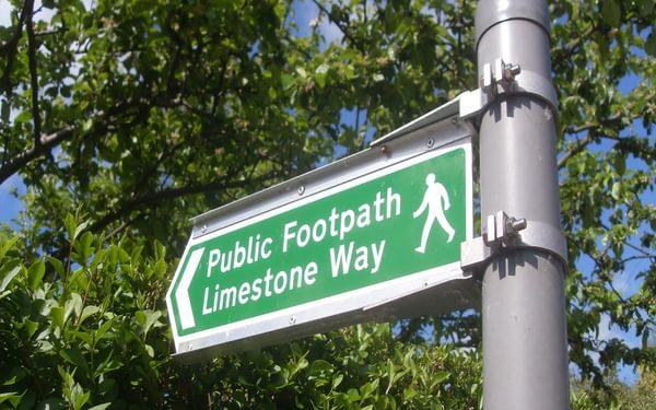 Limestone Way signpost, Derbyshire