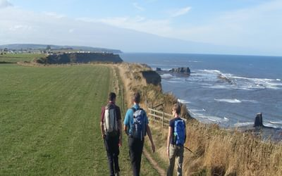 Walkers on Cleveland Way National Trail