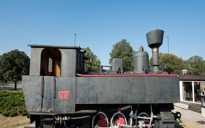 Old steam train at the railway station in Koper, on the Parenzana cycle route, Slovenia © Rudolf Abraham