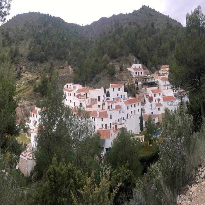 Abandoned for decades the now restored village of El Acebuchal near Frigiliana