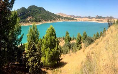 Reservoir of Guadalhorce north of El Chorro