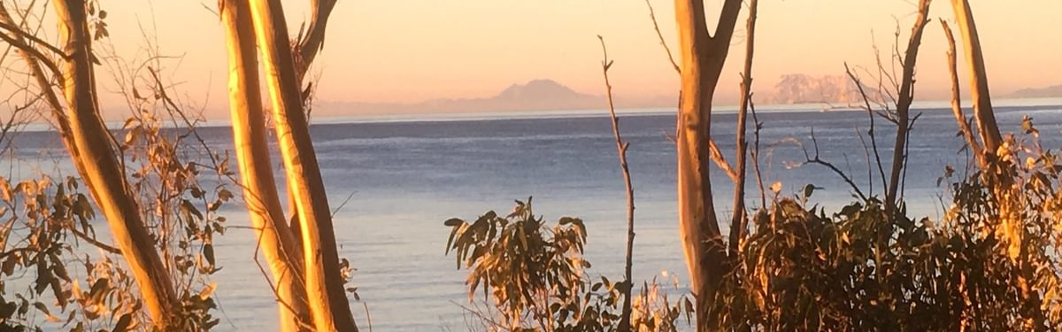 The Rock of Gibraltar and the Atlas Mountains of Morocco from Estepona
