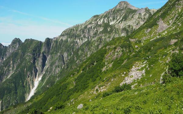 J4 Lush green meadows below Mt. Kasa-ga-take