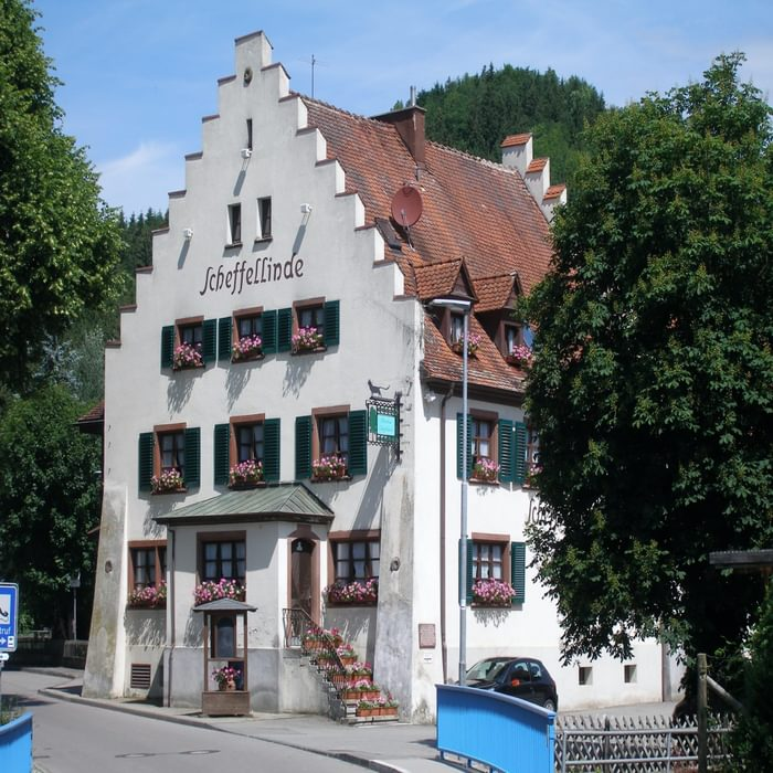 002 Scheffellinde, a historic guesthouse, right on the trail (stage 1/2).