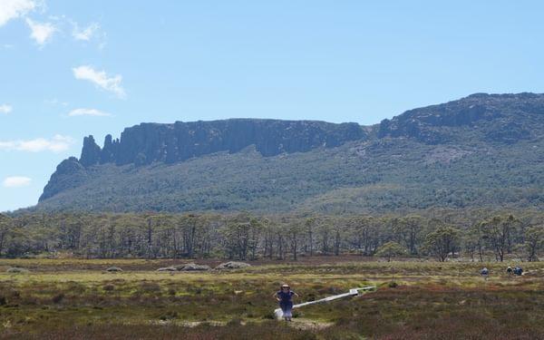 Mt. Oakley's distinctive outline