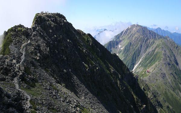 Kitadake13 The final climb to the true summit of Kita-dake