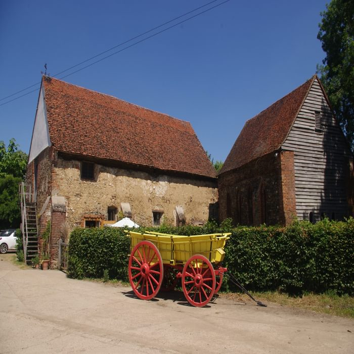 The outbuildings of the former Coggeshall Abbey