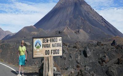 First sight of Pico de Fogo volcano