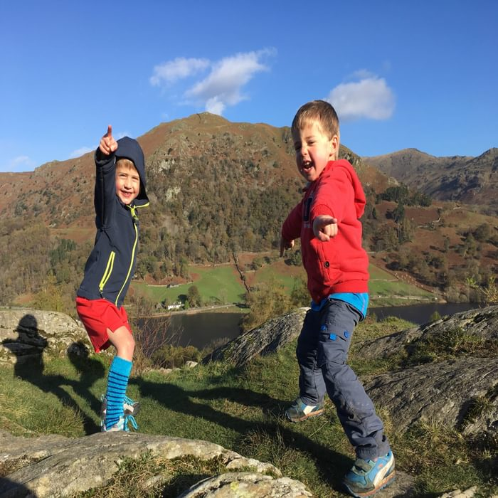 Full of beans on the way up Loughrigg
