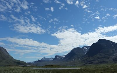 9 Big skies above the Lapone Mountains south of Abisko.