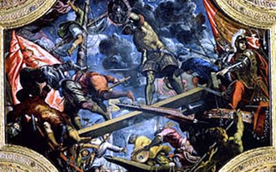 Tintorettos Magnificent Canvas Of The Venetian Victory At Riva Del Garda