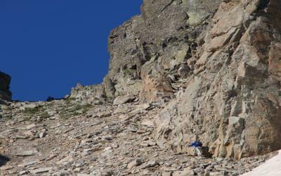 019 Bernard almost reaching Brèche des Ciseaux
