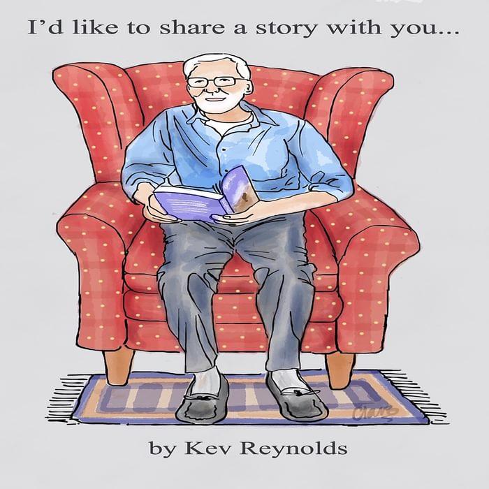 Kev Reynolds drawn by Clare Crooke