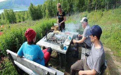 Halstra or Swedish fish barbecue at Aktse