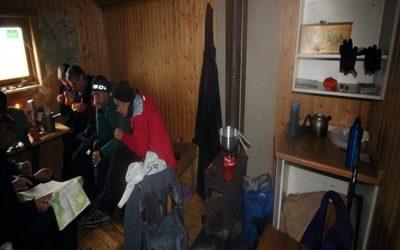 Sheltering in the emergency shelter at Syterskalet