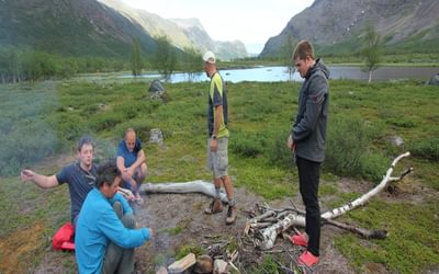 Camping at Kaitumjaurestugorna