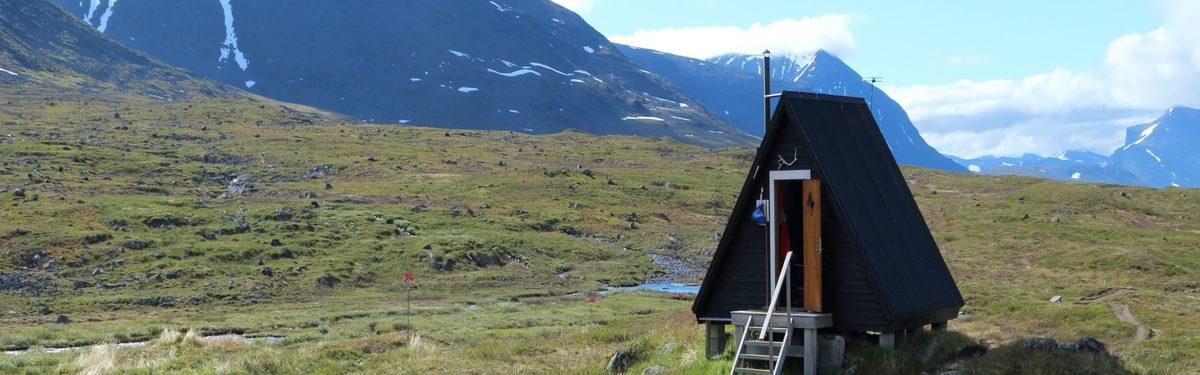 Original prisma cabin at Sälka