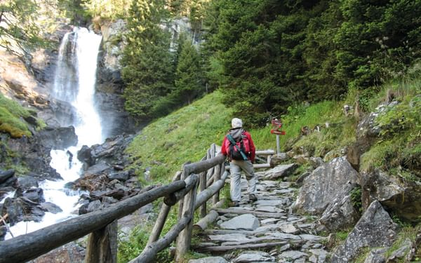 Saent Waterfall Route In Val De Rabbi