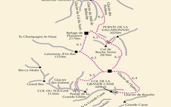 Map 6 Vanoise North