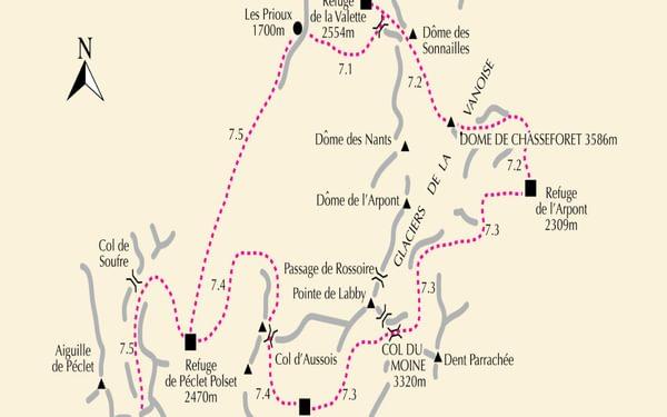 Map 7 Glaciers De La Vanois