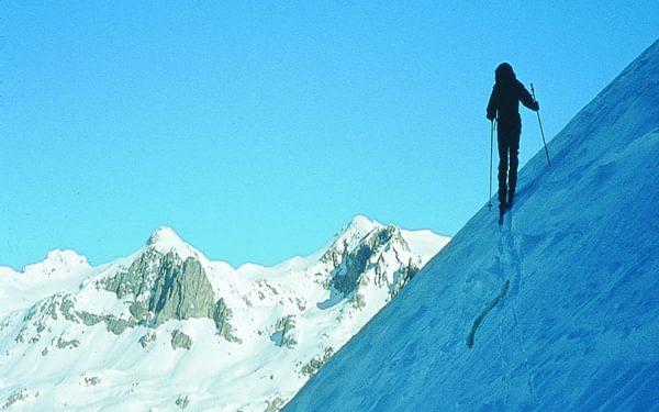 Skinning Up To The Col De La Grande Casse
