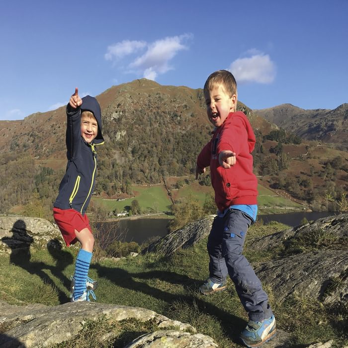 Children outdoors Lake District