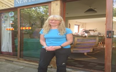 Sue Oxley helps run Newtonmore Hostel and co-organises the Challenge every year