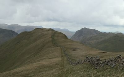 Walking along the ridge near Hartsop