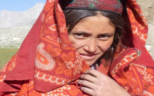 Wakhan woman in traditional dress