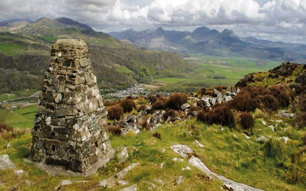 The Summit Of Moel Y Gest Looking East Towards The Moelwynion