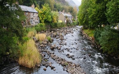 Beddgelert On The Banks Of The Afon Glaslyn