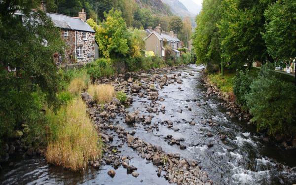 Beddgelert On The Banks Of The Afon Glaslyn