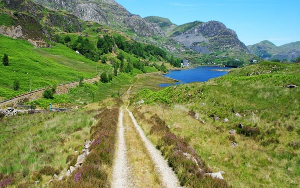 The Tanygrisiau Reservoir From The Trail Down The Vale Of Ffestiniog
