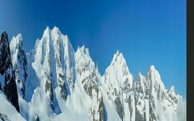 The snowy Bernina massif, viewed  from Diavolezza