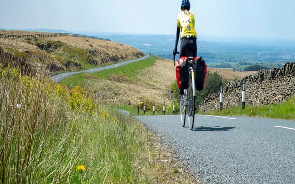 Going over Rivington Pike from the easier side