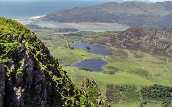Llynnau Cregennen and Mawddach Estuary from Craig-las