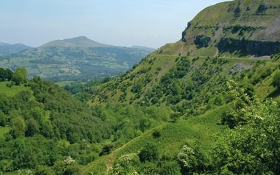Sugar Loaf and Llangattock Escarpement