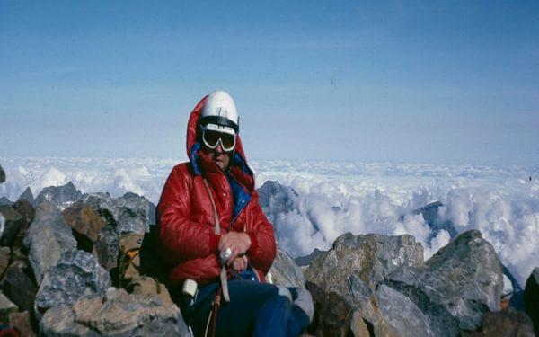 Hugh Walton on the Vignemale's stony summit
