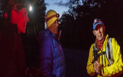 Jasmin Paris, Charlie Ramsay and Graham Nash at Glen Nevis YHA