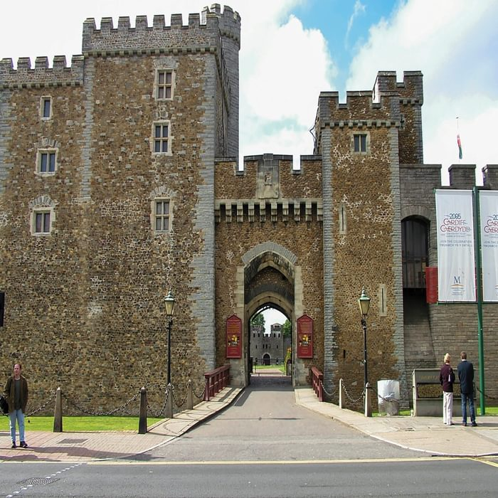 Cardiff Castle's impressive entrance (Stage 1)