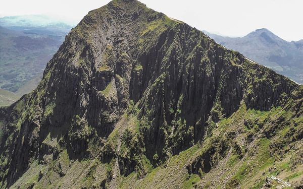 Snowdon's iconic summit, seen here from Bwlch Glas (Stage 19)