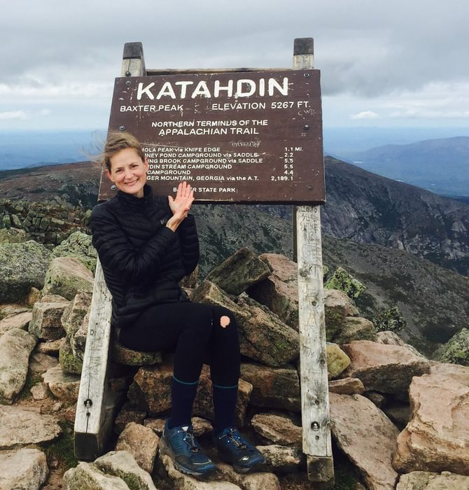 At the top of Katahdin