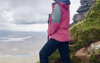 Sarah hiking in Scotland