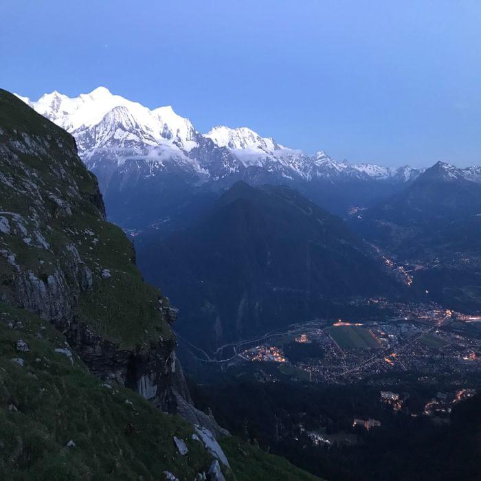 9 Mont Blanc Evening