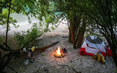From Germany onwards, this is what home often looked like for us. Camping on the side of the river was often a wonderful and peaceful experience. Most days we would swim in the river before dinner to freshen up after a long day of paddling in the heat!