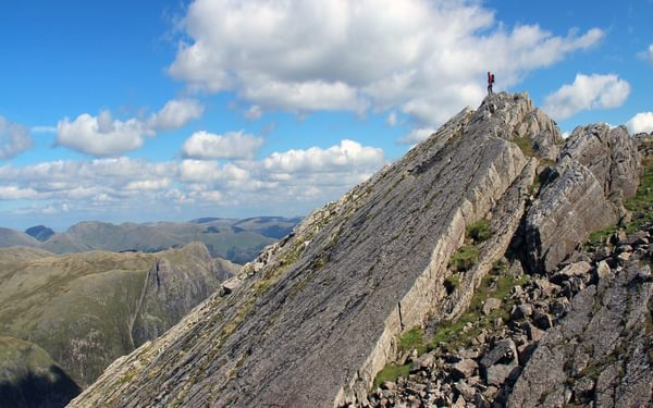 Climbing directly from the tarns a n