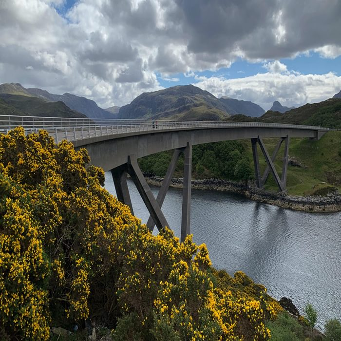 Day 4 01 Crossing the Beautiful Kylescu Bridge