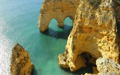 Beautiful arches near Praia da Marinha