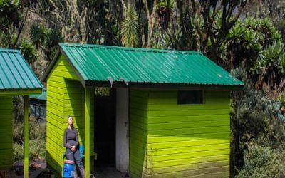A rare moment of sunshine at Mutinda Camp